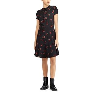 Polo Ralph Lauren Cherry Print Crepe Dress